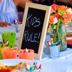 Kids table entertaining kids at wedding weddingcandles.ie