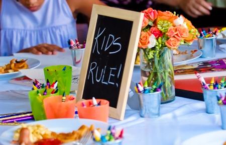 Kids table entertaining kids at wedding weddingcandles.ie