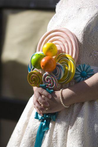 Candy bouquet alternative wedding bouquets