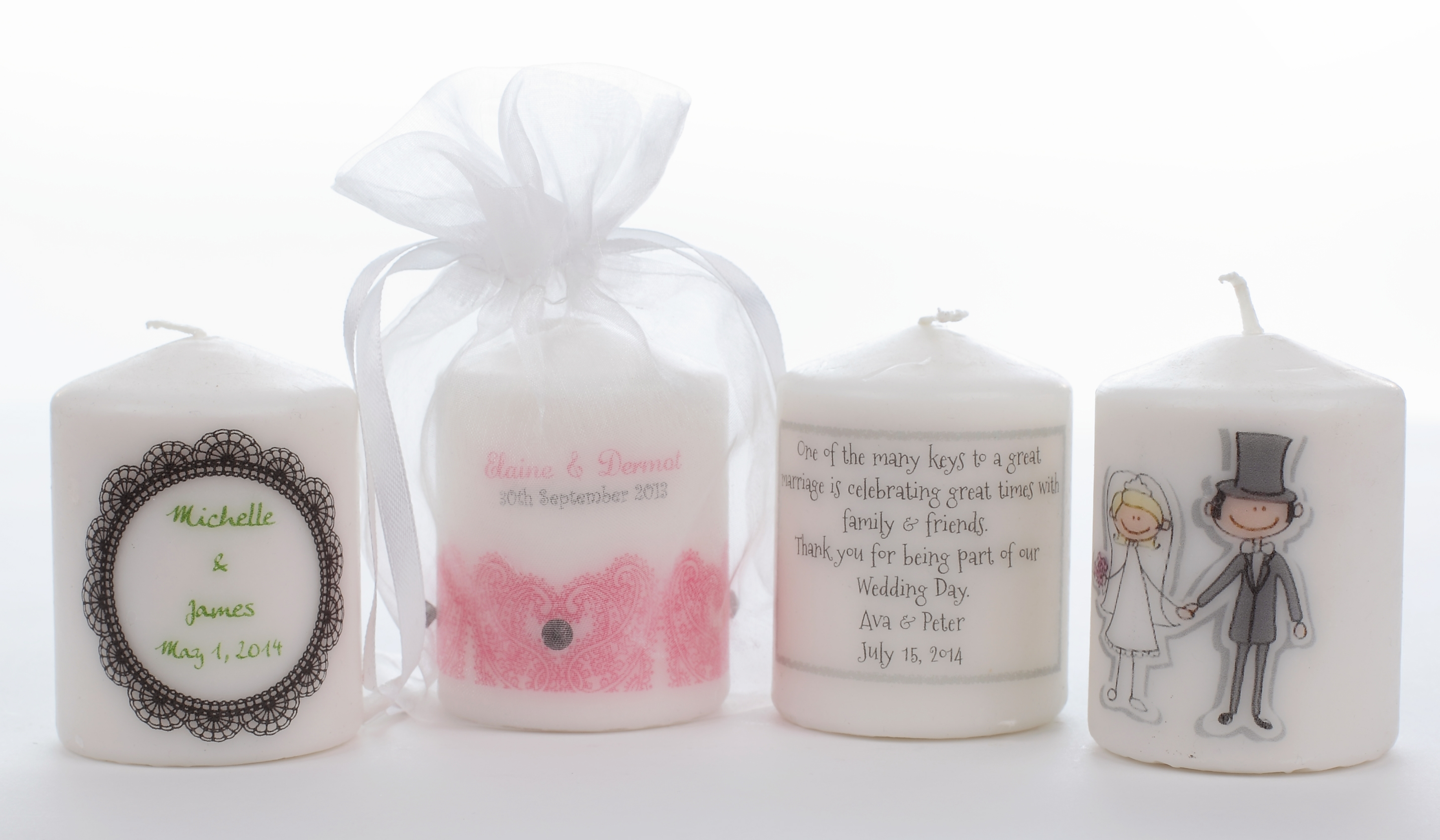 Fantastic Wedding Favours - WeddingCandles.ie