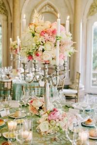 Candelabra centerpiece idea for wedding
