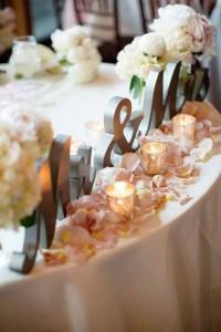 Small votive candle wedding decor ideas