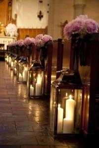 Large Candle Lantern ceremony aisle decor