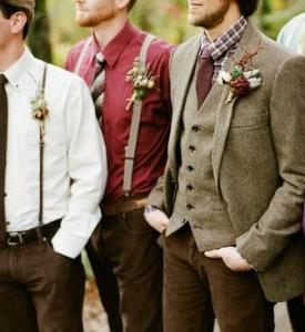 Autumn wedding inspiration tweed suit groom look rustic