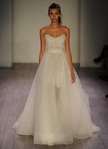 Bridal fashion week trends fall 2016 detachable skirt